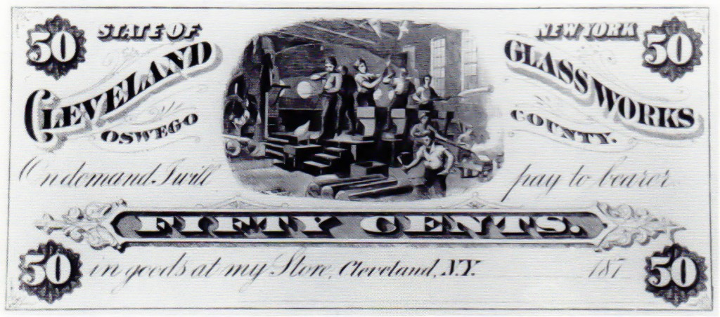 Cleveland Glass Works Scrip