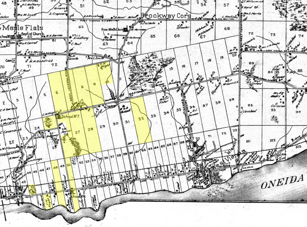 Parcels of land owned by C.W. Knight