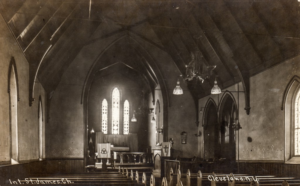 Interior of St. James Church (Postcard)