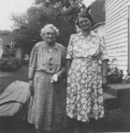 This is Alice Brown Cole, the daughter of William E. and Julia Morse Brown, and wife of Edward Cole and with her is believed to be her mother, Julia Morse Brown.